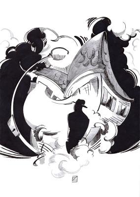 """Ilustración """"El exorcista"""""""