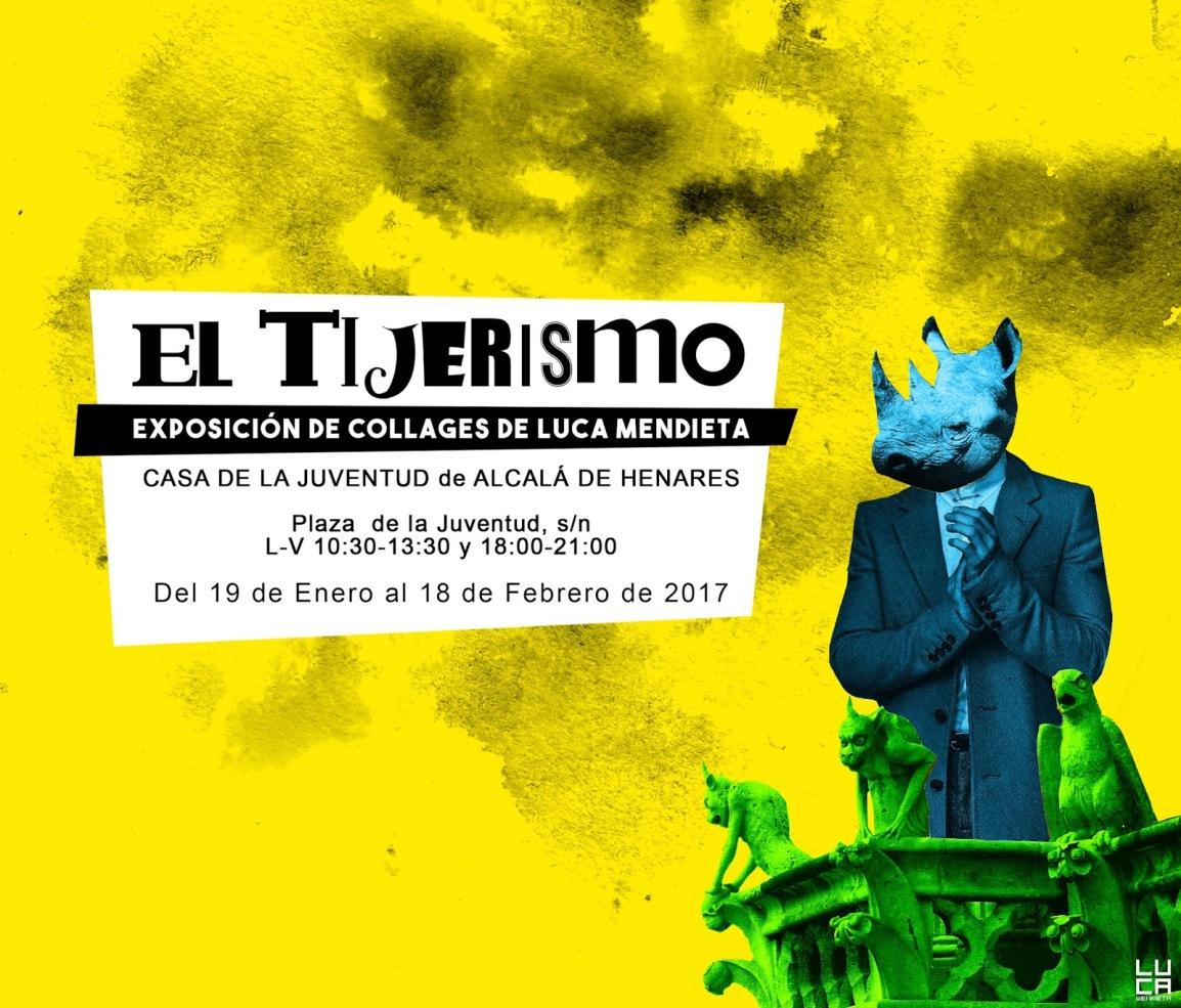 Luca Mendieta trae su exposición de collages a Alcalá deHenares