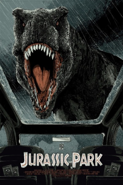 Parque Jurásico (1993), Steven Spielberg. Póster Alternativo de Kako