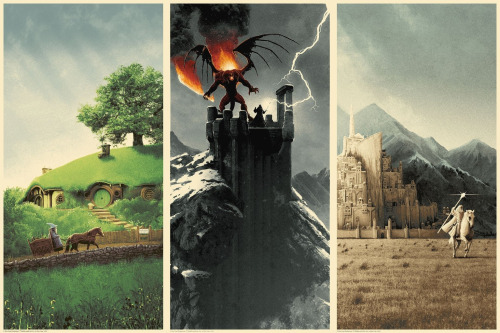 El Señor de los Anillos 1, 2 & 3. Póster Alternativo de Matt Ferguson
