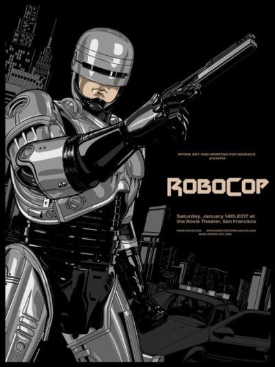 Robocop (1987), Paul Verhoeven. Póster Alternativo de Vincent Rhafael Aseo