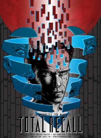 Desafío total (1990), Paul Verhoeven. Póster Alternativo de Tim Doyle