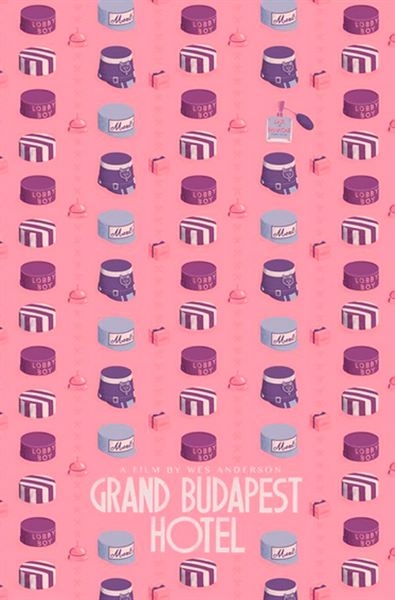 El gran Hotel Budapest (2014), de Wes Anderson. #PosterAlternativo de Maxime Pecourt