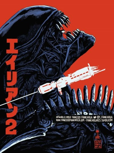 Aliens (1986), James Cameron. Póster Alternativo de Francesco Francavilla
