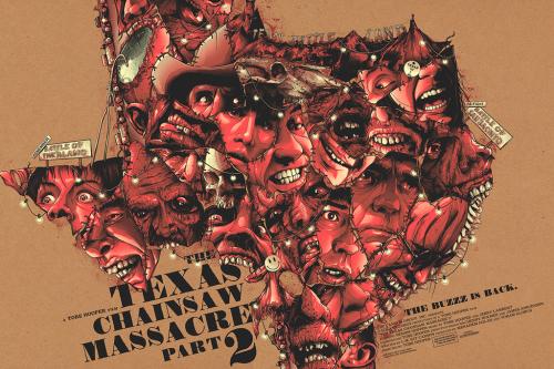 Masacre en Texas 2 (1986), Tobe Hooper. Póster Alternativo de Matty Ryan Tobin