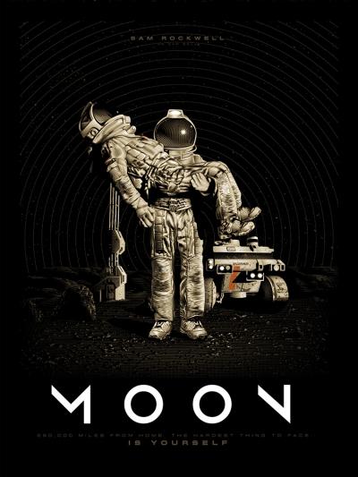 Moon (2009), Duncan Jones. Póster Alternativo de Tracie Ching