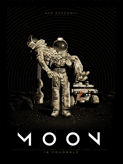 Moon (2009), Duncan Jones. Póster Alternativo de Tracie Ching