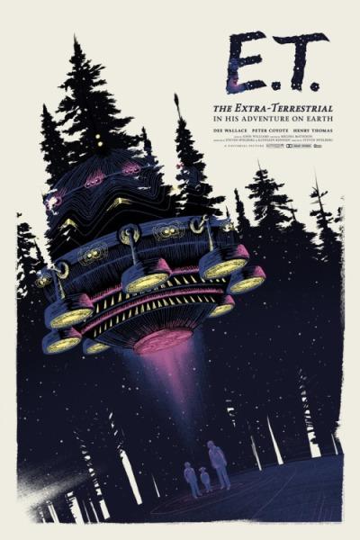 E.T., el extraterrestre (1982), Steven Spielberg. Poster Alternativo de Lyndon Willoughby