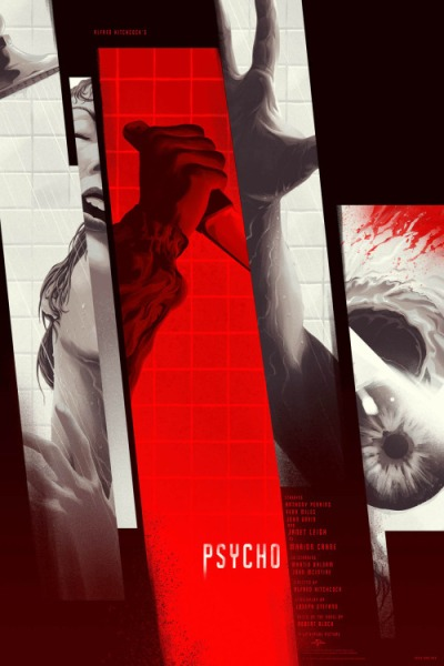 Psicosis (1960), Alfred Hitchcock. Poster Alternativo de Kevin Tong