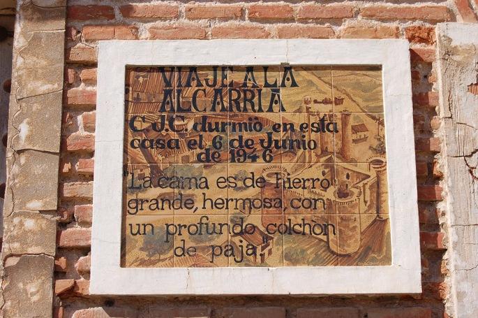 "Placa cerámica ""Viaje a la Alcarria"""