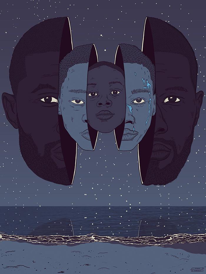 Moonlight (2016), Barry Jenkins. Póster Alternativo de Studio Murugiah
