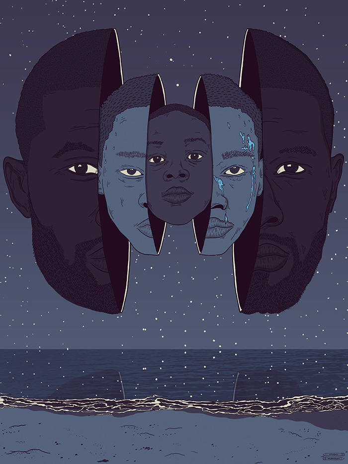 Moonlight (2016), Barry Jenkins. Póster Alternativo de Studio Murugiah