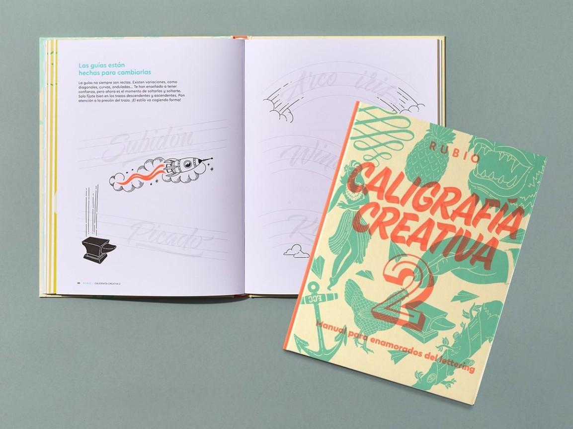 Rubio nos sorprende con su nuevo manual de lettering Caligrafía Creativa 2